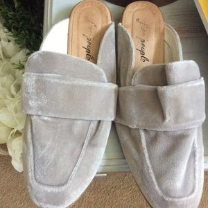 Free people suede slides size 39